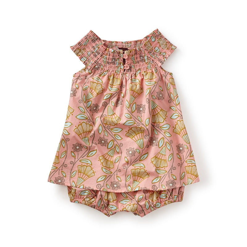 Vines of Villas Smocked Romper