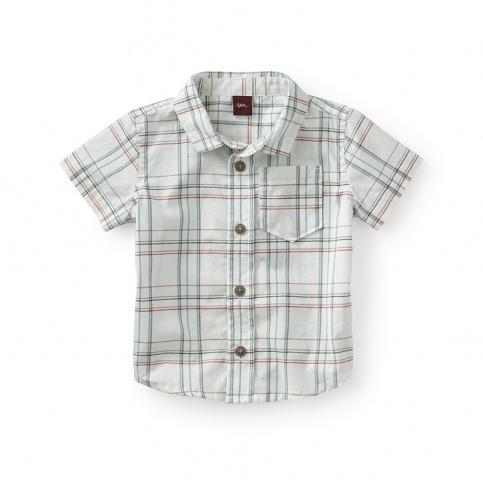Enrico Plaid Baby Shirt
