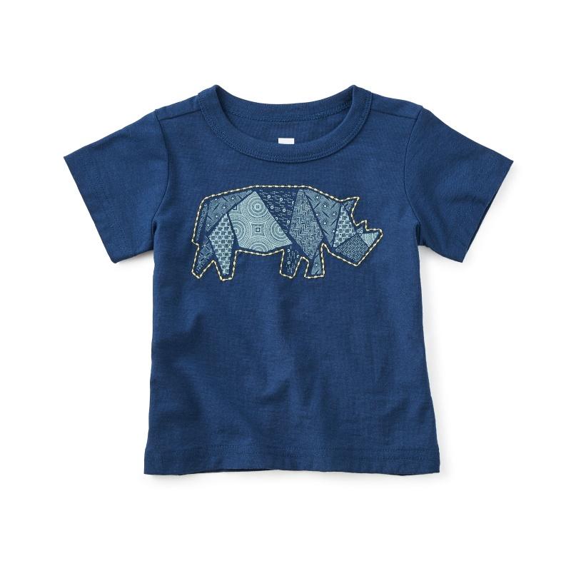 Patchwork Rhino Baby Tee