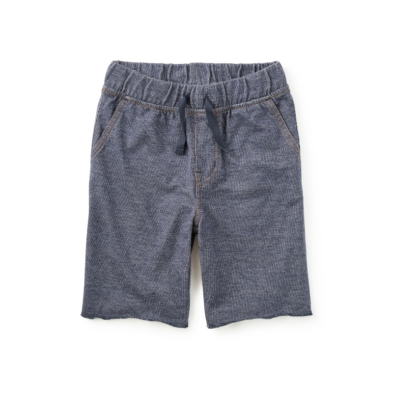 Blue Denim Like French Terry Shorts for Boys | Tea Collection