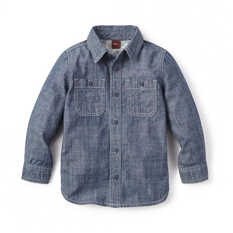 Chambray Shirt for Boys | Tea Collection