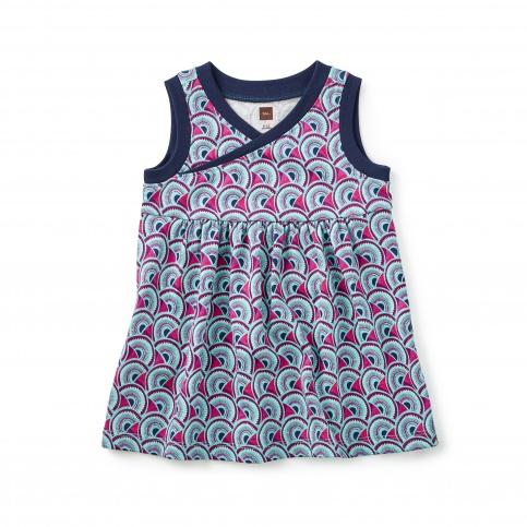 Monde Wrap Neck Baby Dress