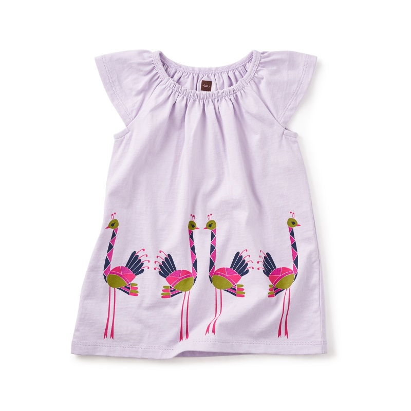Ostriches Graphic Baby Dress