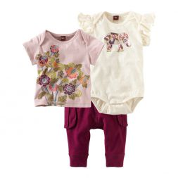 Tea Collection Baby Elephant 3-piece Set