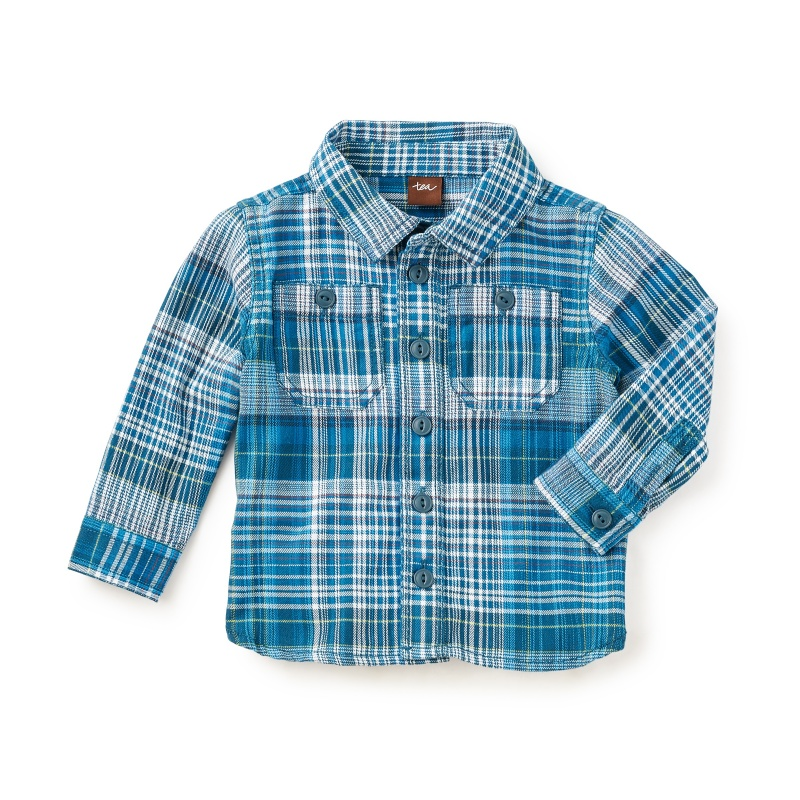 Mashu Plaid Baby Shirt