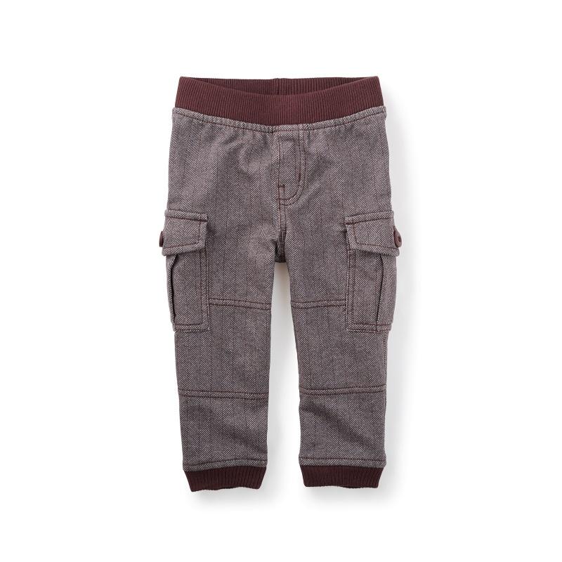 Herringbone Cargo Baby Pants