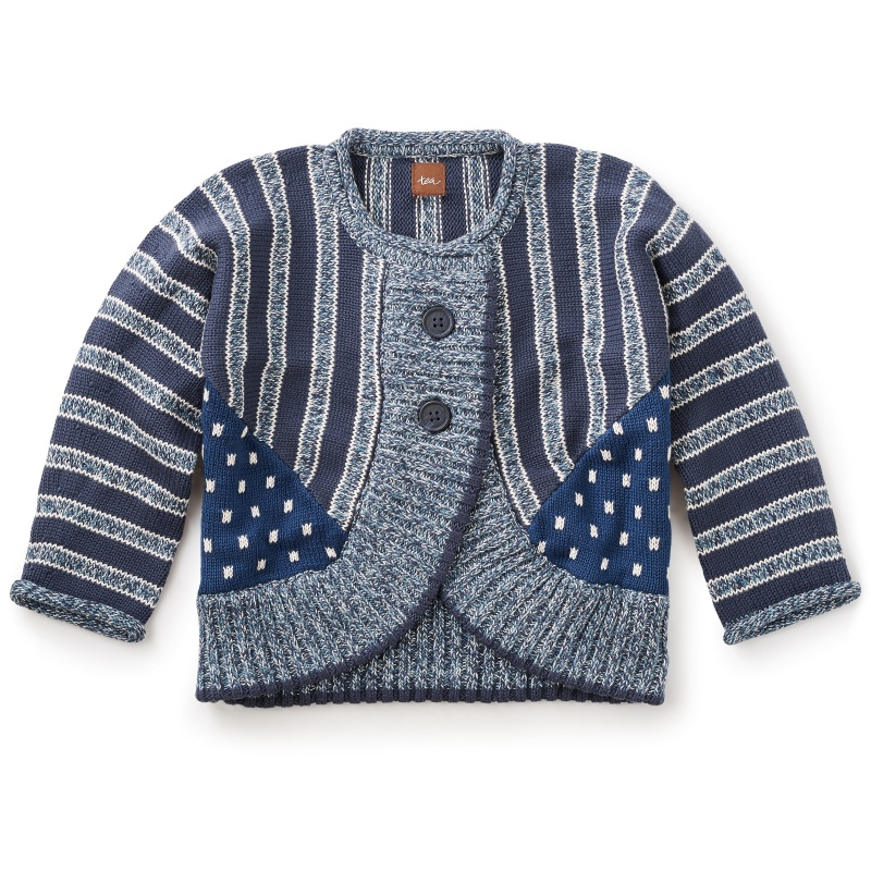 Boro Print Mix Cardigan