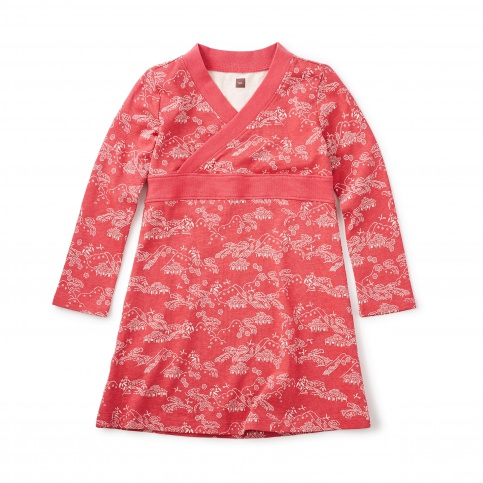 Bisuta Wrap Neck Dress