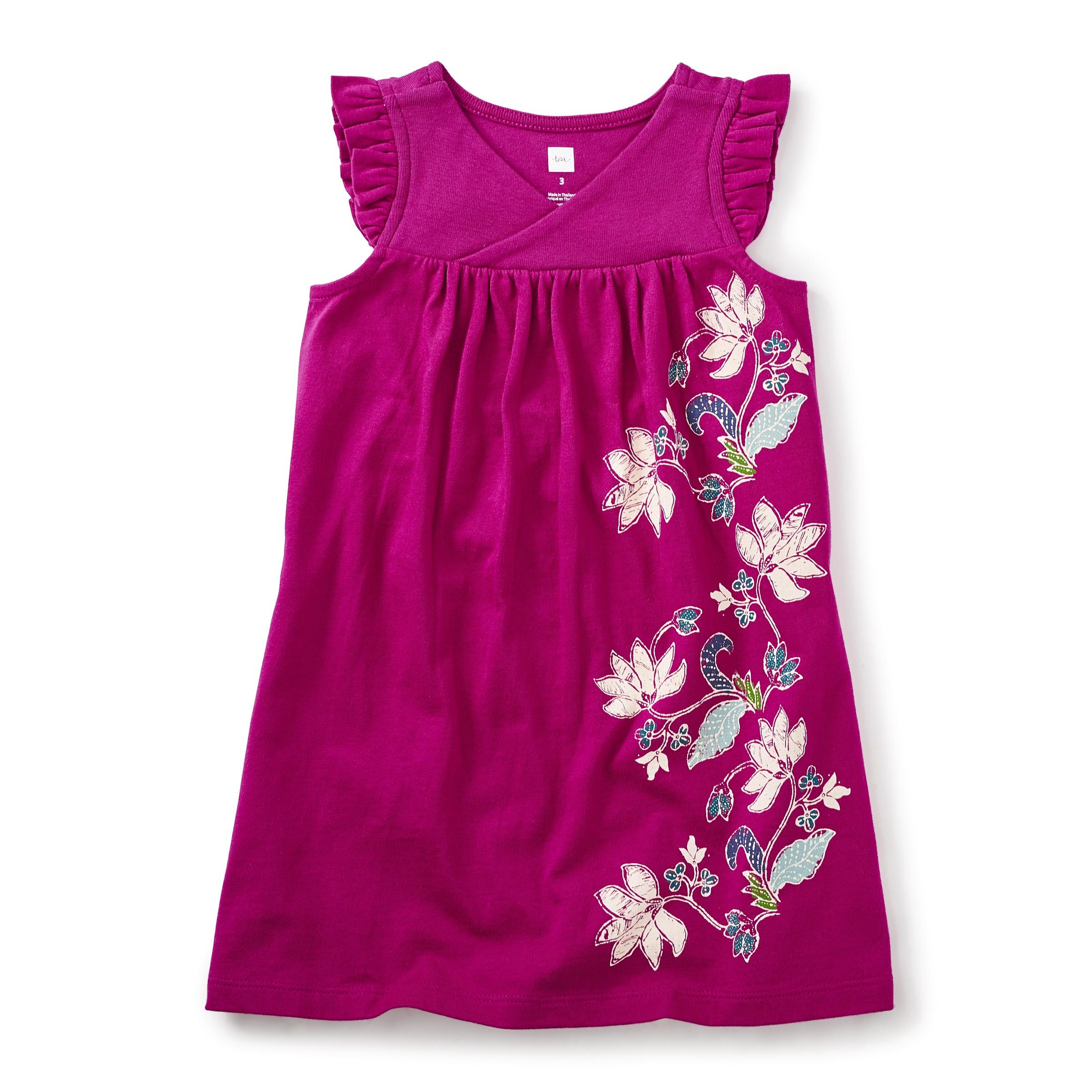 Magnolia Batik Wrap Neck Dress