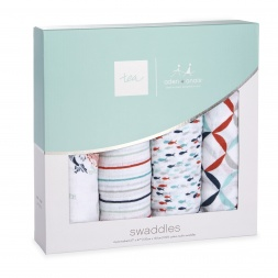 tea x aden + anais Fish Pond Swaddle 4pk