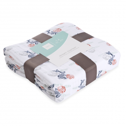 tea x aden + anais Fish Pond Dream Blanket