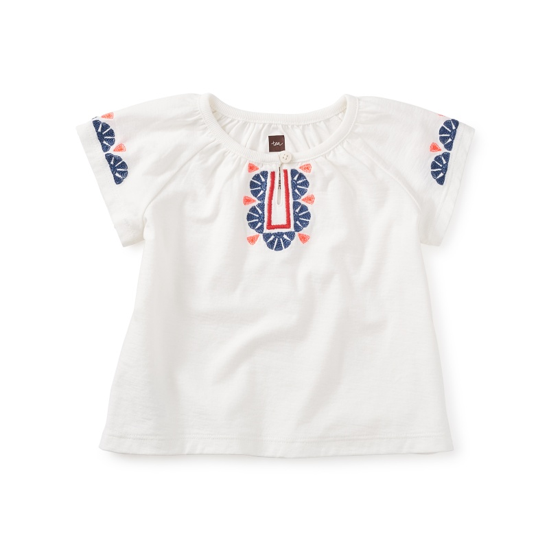 Juniper Hall Embroidered Baby Top