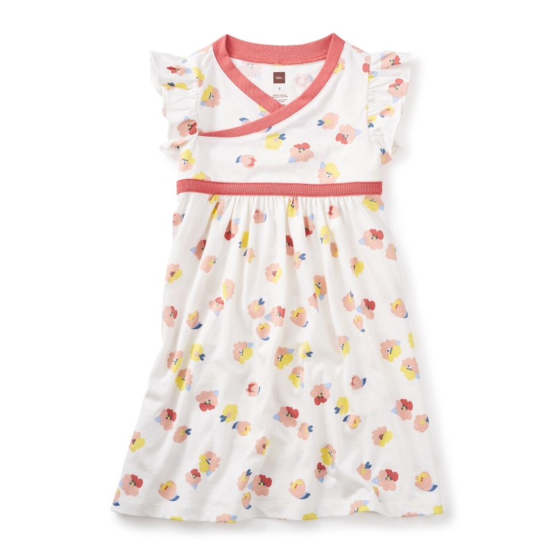 Mulberry Wrap Neck Dress