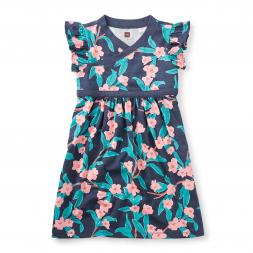 Bloomin' Wrap Neck Dress