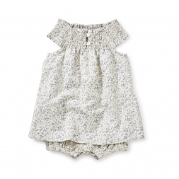 Birdsville Smocked Romper Dress