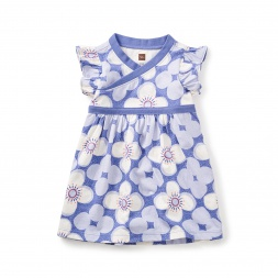 Starflower Wrap Neck Baby Dress