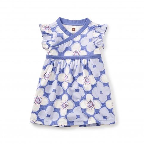 Starflower Wrap Neck Baby Dress