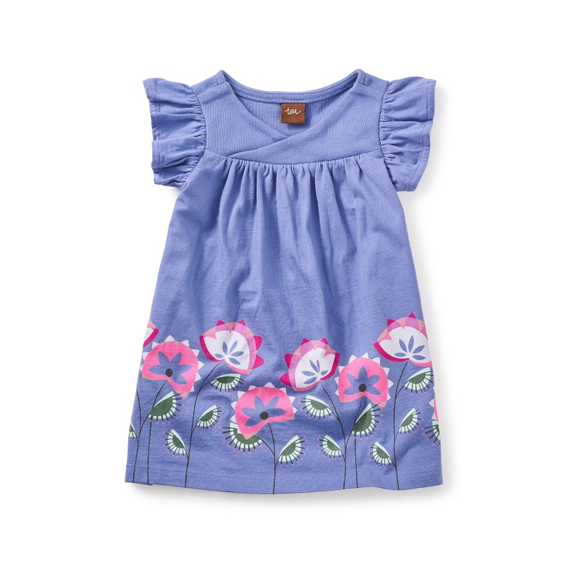 Amby Wrap Neck Baby Dress