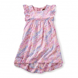 Red Mallee Flower Dreaming Hi-Lo Dress