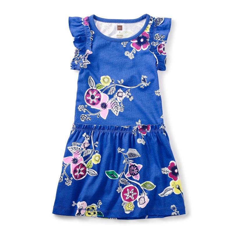Morocco Majorelle Flutter Dress
