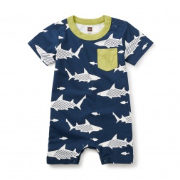 Shiver of Sharks Pocket Romper