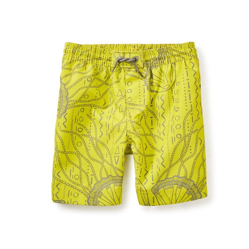 Moon Jelly Swim Trunks