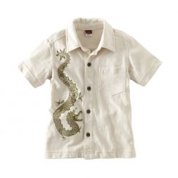 Tea Collection Stone Dragon Camp Shirt