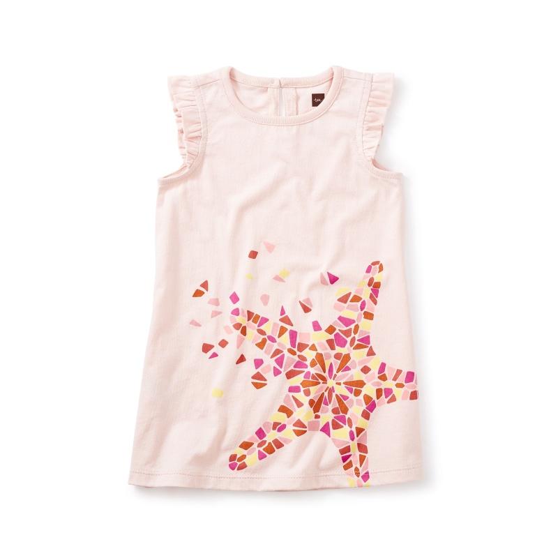 Sea Star Graphic Baby Dress