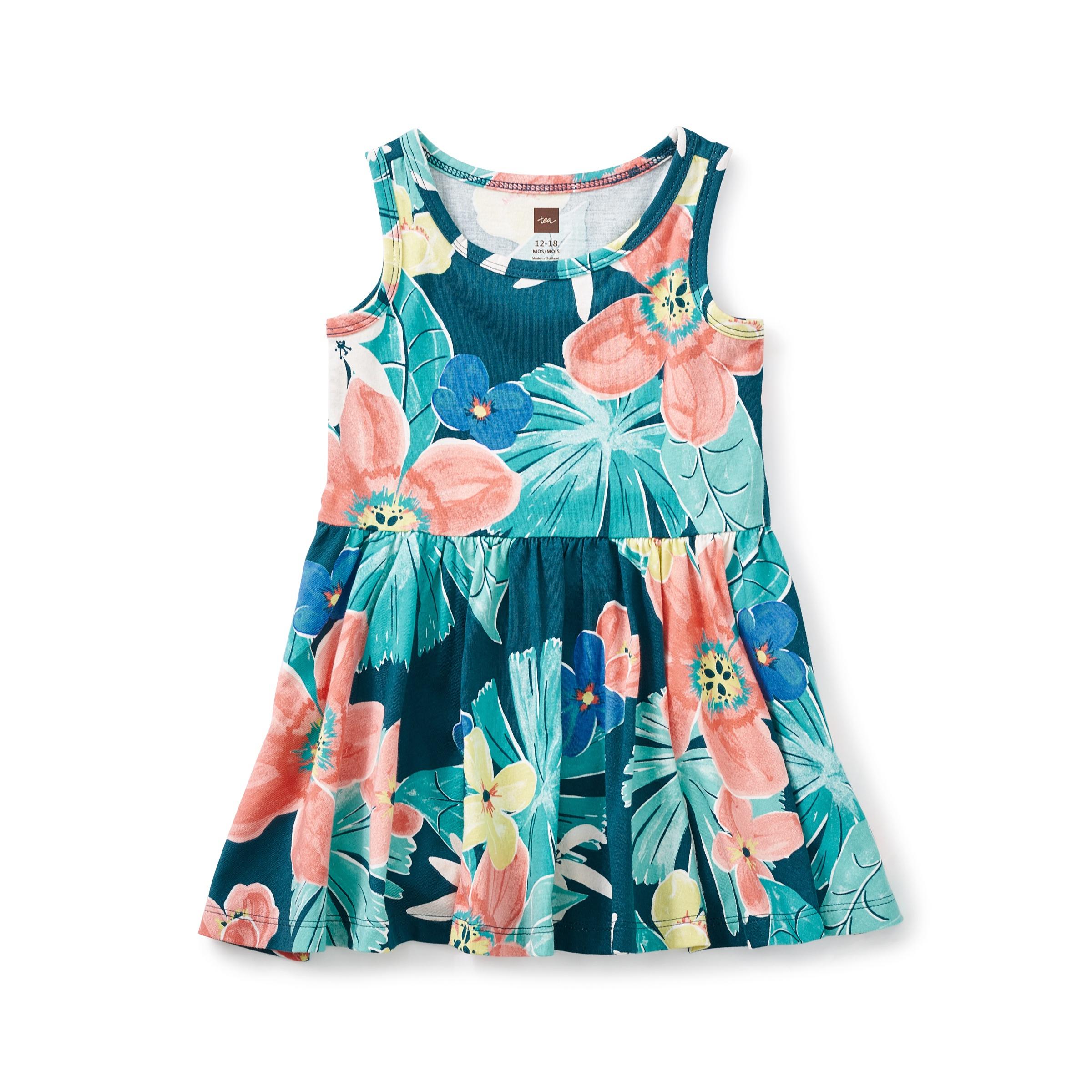Coral Fern Tank Baby Dress