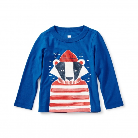 Salty Badger Graphic Baby Tee