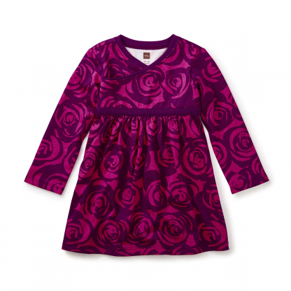 Rennie Rose Wrap Neck Baby Dress