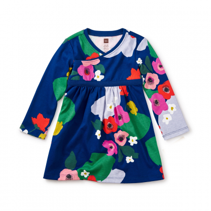 Scottish Garden Wrap Neck Baby Dress