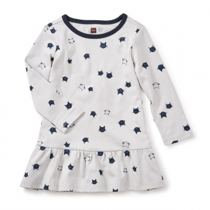Moggy Cat Ruffle Baby Dress