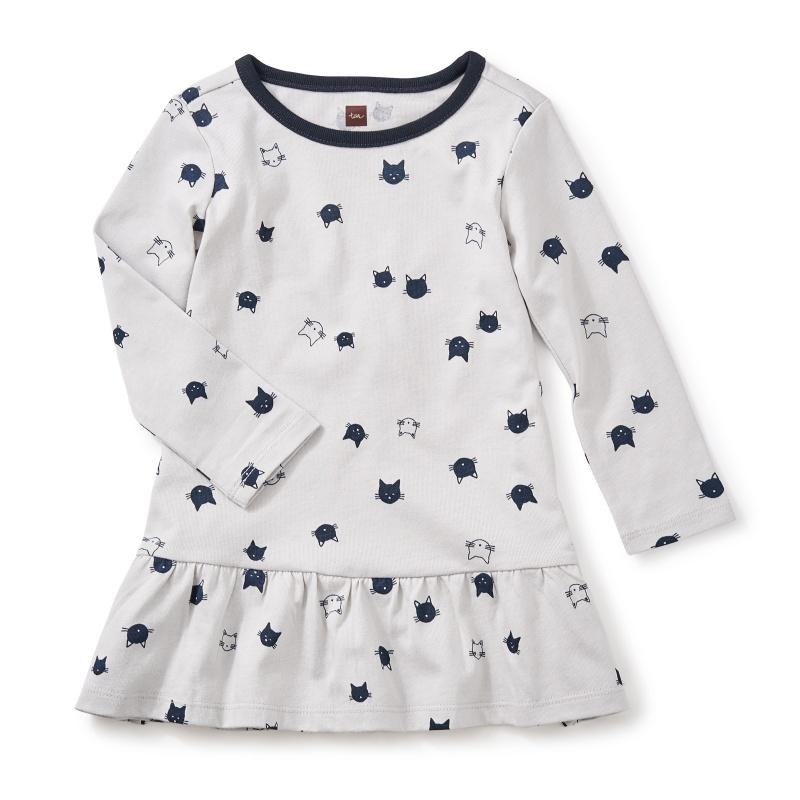 Moggy Cat Ruffle Baby Dress
