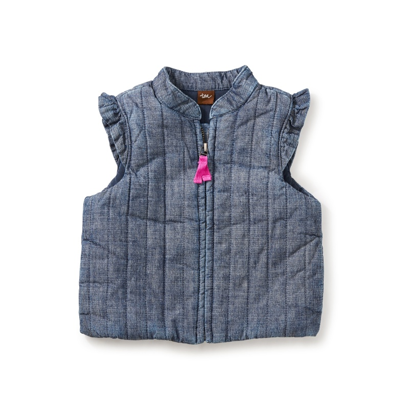 Citizen Chambray Zip Baby Vest
