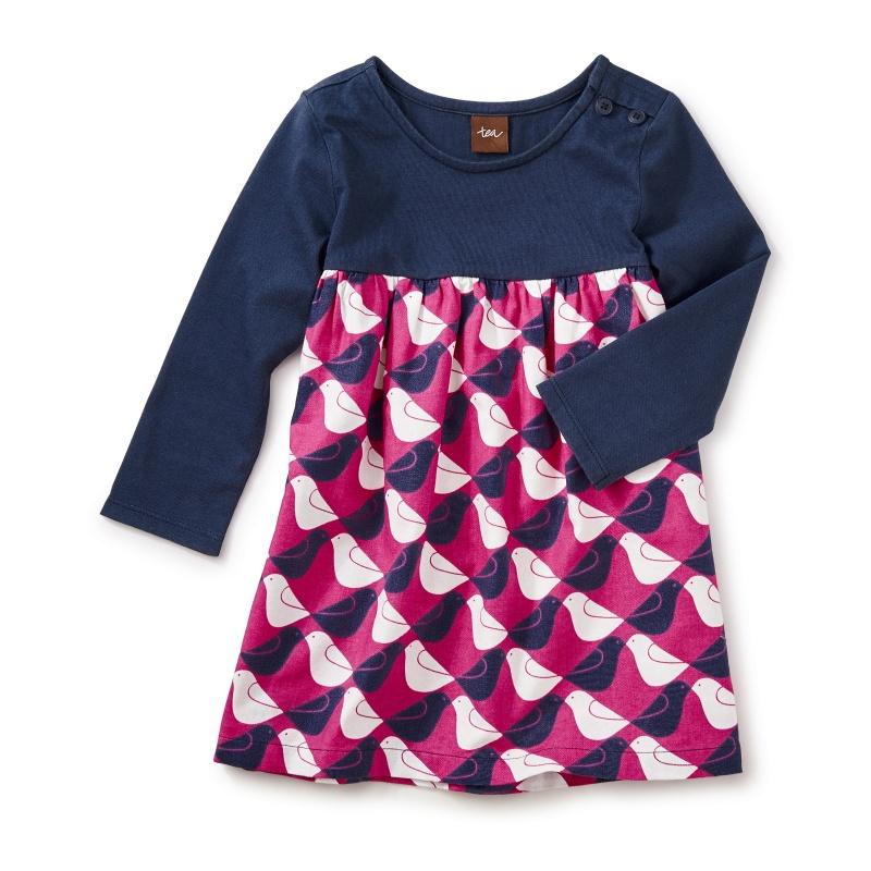 Argyle Birds Two-Tone Dress