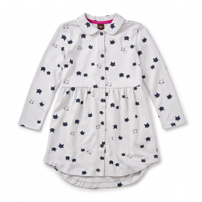 Moggy Cat Shirtdress