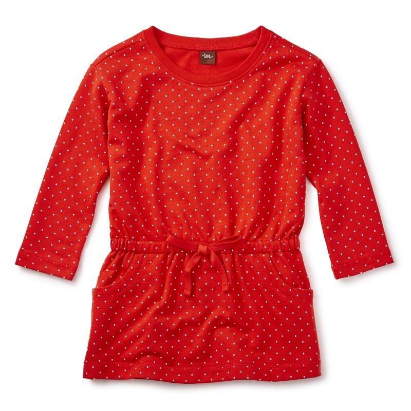 Dotty Drawstring Dress