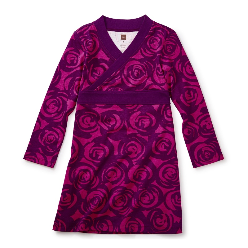 Rennie Rose Wrap Neck Dress