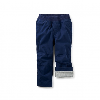 Lined Canvas Baby Pants