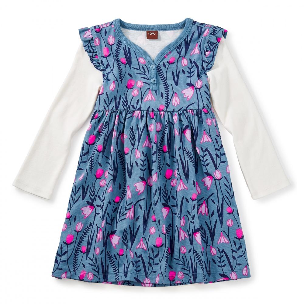 Snowdrop Button Neck Dress
