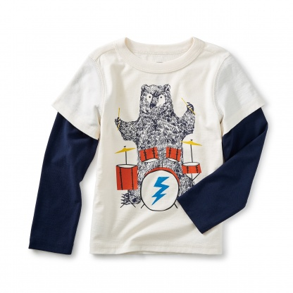 Backbeat Bear Graphic Tee