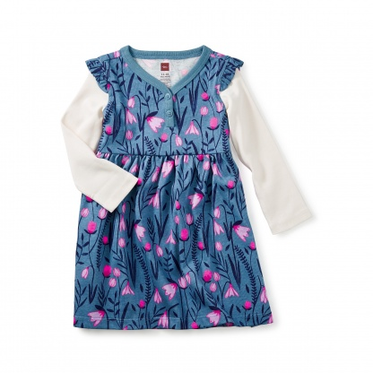 Snowdrop Baby Button Neck Dress
