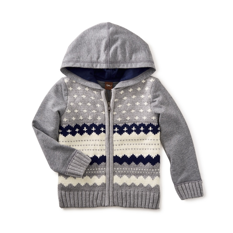 Fair Isle Zip Hoodie | Tea Collection