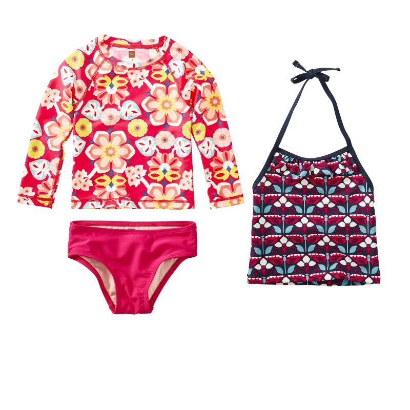 Floral Swim Set