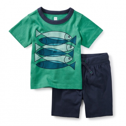 Fish School Baby Outfit