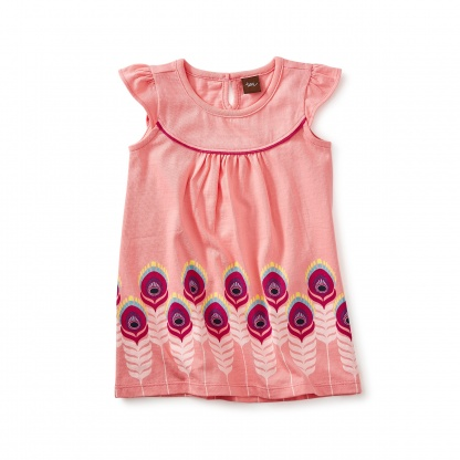 Feather Graphic Baby Dress