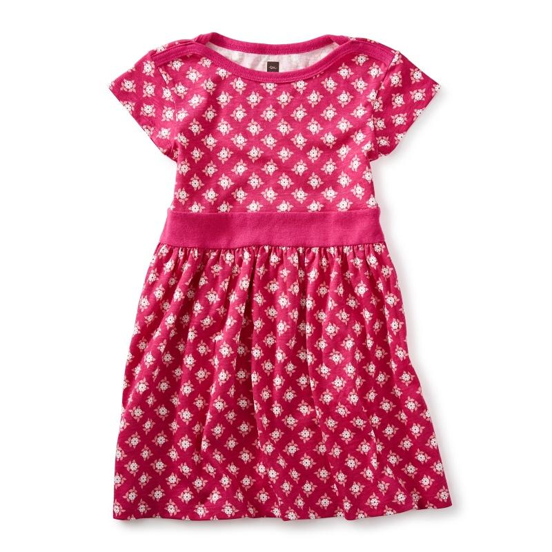 Sunburst Cap Sleeve Dress