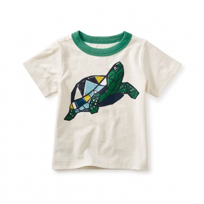 Turtle Power Graphic Baby Tee
