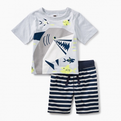 Smiling Shark Baby Outfit